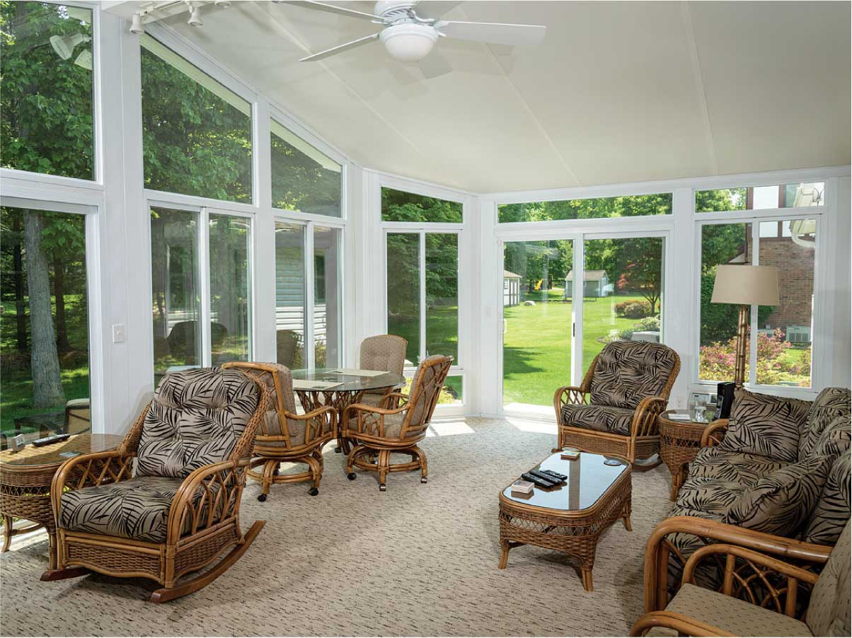 Sunroom Interior Michigan Summer